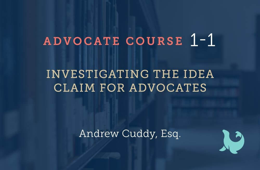 investigating the idea claim for advocates