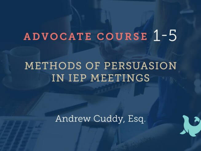 methods in persuasion process for advocates