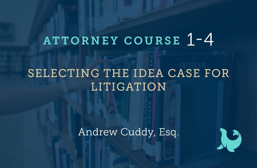 selecting the idea case for litigation cover