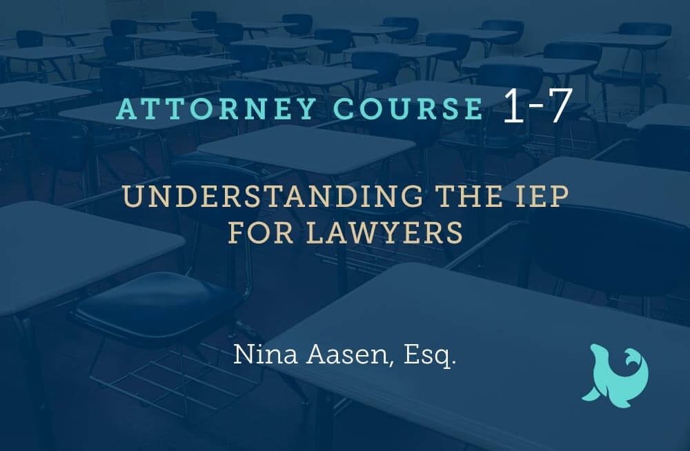 understanding the IEP for Lawyers cover