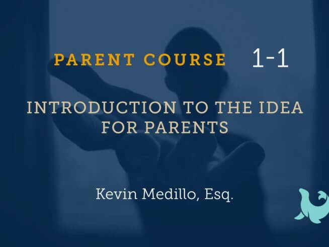 introduction to the idea for parents