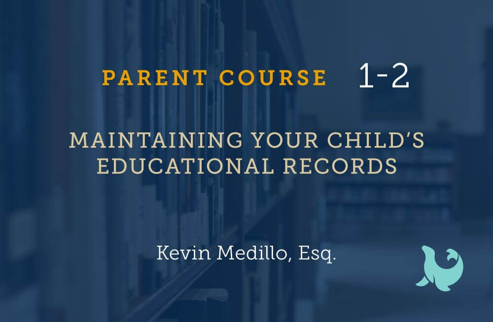 Maintaining your child's educational records