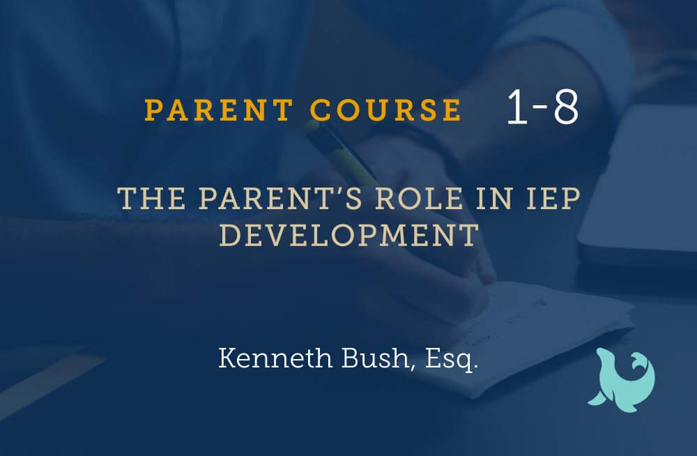The parents role in IEP development