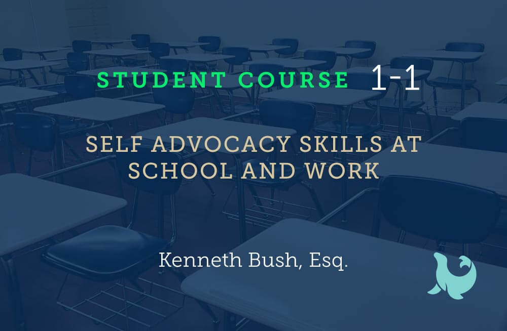 Self advocacy skills at school and work