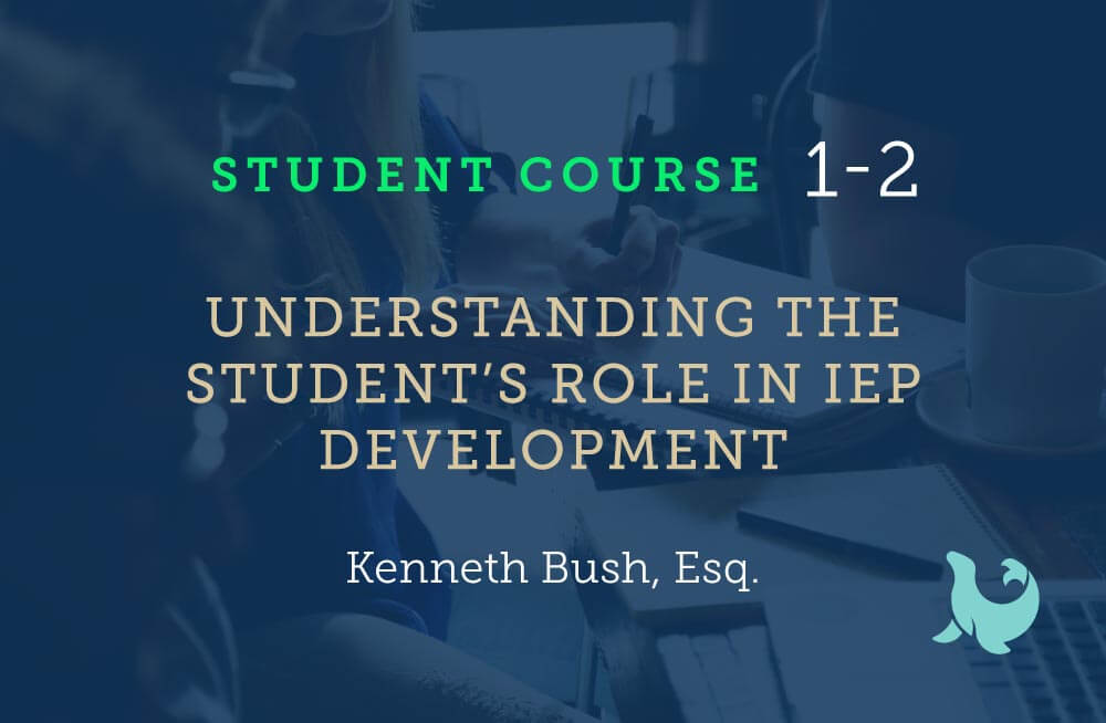 Understanding the students role in iep development